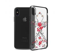 Луксозен гръб за Iphone X, Kingxbar Swarovski Flowers