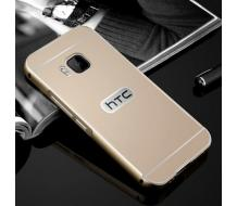Луксозен гръб за HTC One M9, Aluminium frame, gold