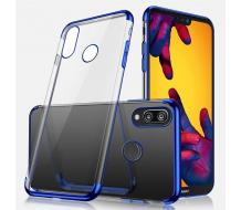 Луксозен гръб за Huawei P20 Lite, Usams Crystal case син