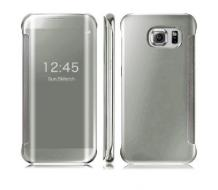 Оригинален калъф за Samsung Galaxy S6 Edge, Clear View Official silver