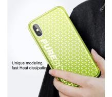 Оригинален гръб за Iphone X, Baseus Parkour case Lemon green