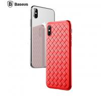 Oригинален кейс за Iphone X, Baseus Weaving case червен