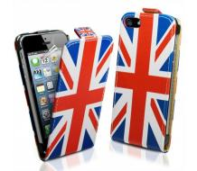 Кожен калъф за Iphone 5, Iphone 5S England Flag flip