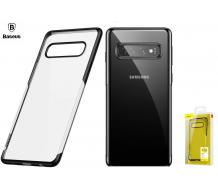 Оригинален кейс за Samsung Galaxy S10 Plus, Baseus Luxury Plating черен