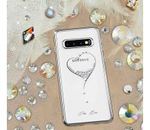 Оригинален кейс за Samsung Galaxy S10 Plus, Kingxbar The One сребърен